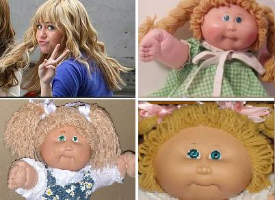 Miley Cyrus cabbage patch