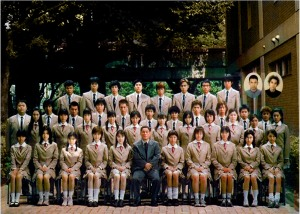 Class 3-B, Graduating number of students, two..ehh one..oh, none.