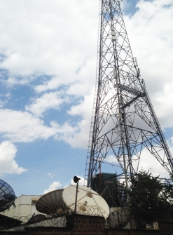 This is the location of Voice of Kenya and Kenya Broadcasting Corporation. They may have been the first major Radio and Television broadcasters.
