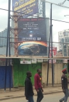 Some stalls in Westlands. (Close to where the Westgate Mall Terror attack was) Independence day advert on the billboard, targeted to the region as the alien ship is shown above the African continent. KFC over there as well, some western food chains are breaking into the market, though their price points are for middle class and higher budgets.